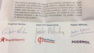 Signature pour la coalition Maintenant le peuple