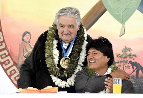 Pepe Mujica et Evo Morales